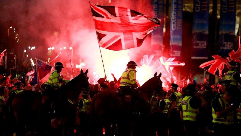 Disturbios en Escocia tras la desilusión de los separatistas