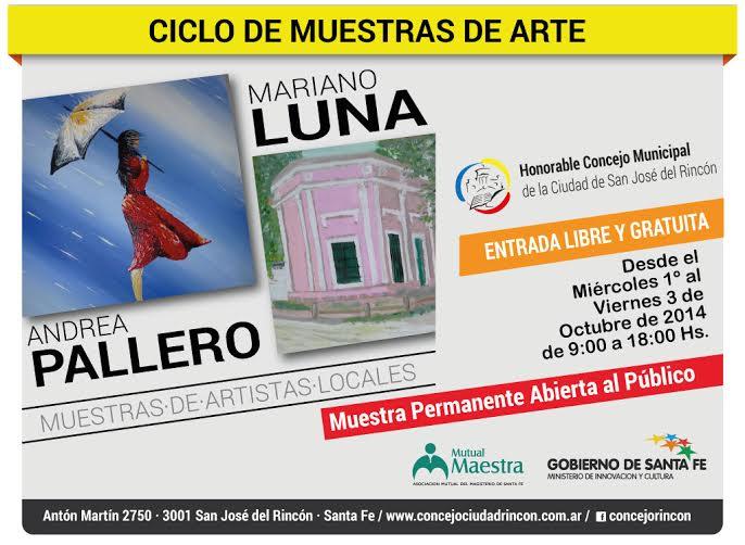 Muestra de artistas locales en el Concejo Municipal