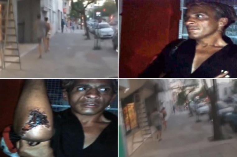 Tremendo ataque de un joven a un travesti sanlorencino