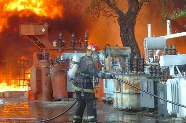 Un depósito de la EPE se incendió en calle Primera Junta al 4.800