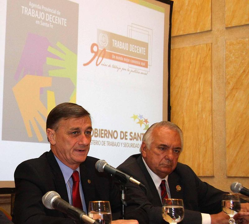 El gobierno y la OIT organizan una jornada sobre trabajo decente en Santa Fe