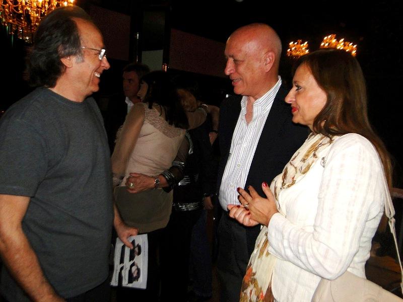 El Gobernador Antonio Bonfatti saludó a Serrat y Sabina
