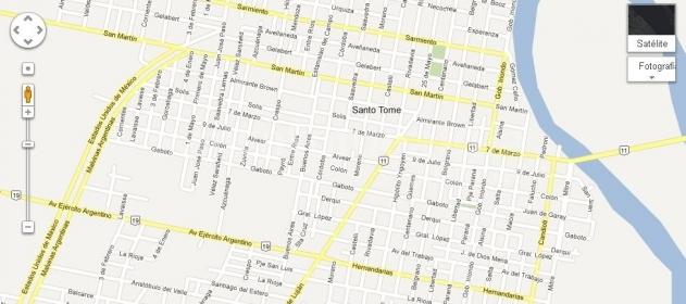 Incorporaron a Google Maps la nomenclatura de todas las calles de Santo Tomé