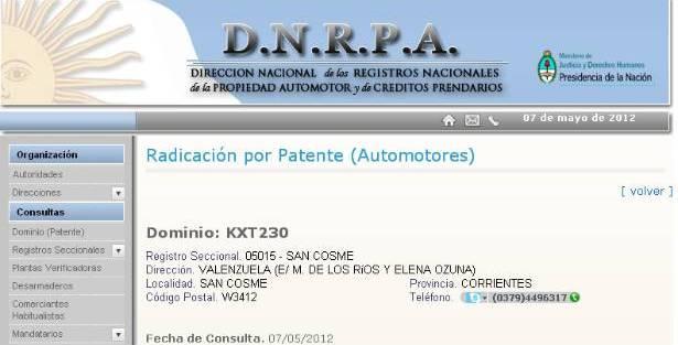 Escándalo: El Secretario de Hacienda de Reconquista patentó su auto en la Provincia de Corrientes
