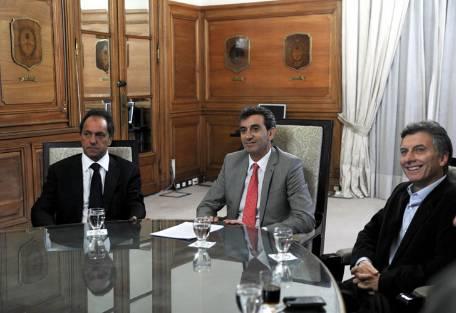 Randazzo, Macri y Scioli empezaron a trabajar juntos por el transporte
