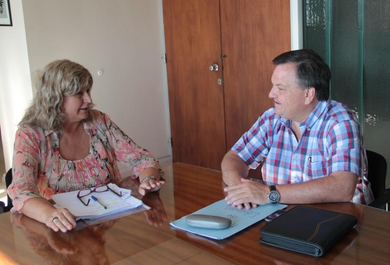 Michlig pidió a la ministra Balagué nuevos edificios y más personal para escuelas de San Cristóbal