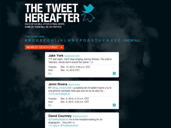Crean archivo para tuits de famosos muertos