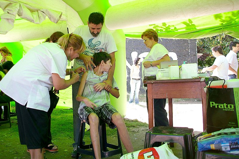 Realizaron una campaña de vacunación en el Barrio La Tablada