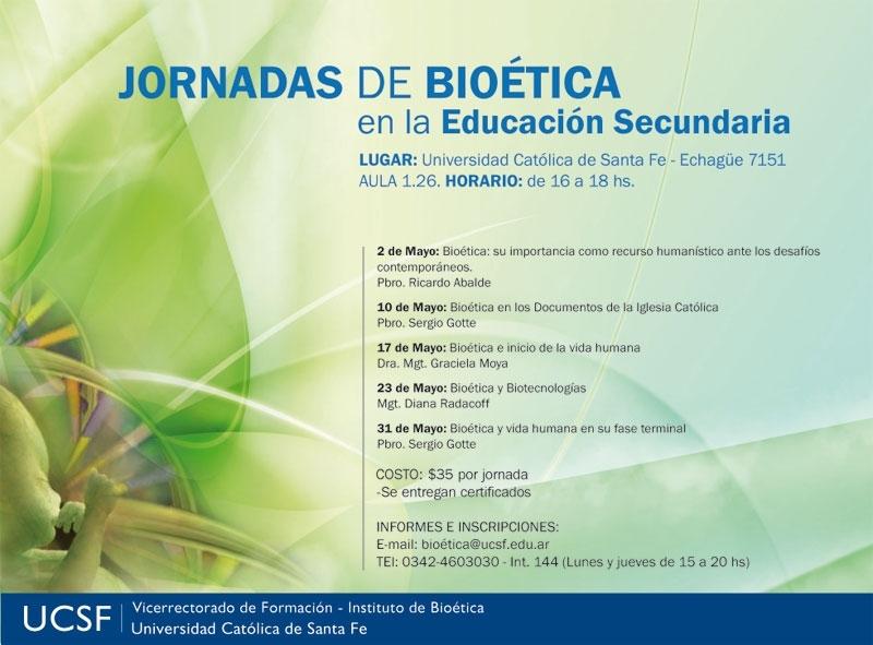 Jornadas de Bioética en la Educación Secundaria