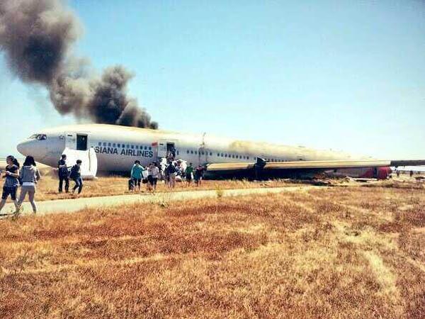 Se accidentó un avión con 290 pasajeros en el aeropuerto de San francisco