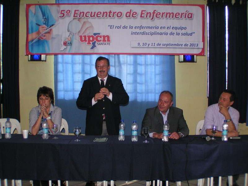 Cappiello participó de la apertura del curso de capacitación a Enfermeros en UPCN